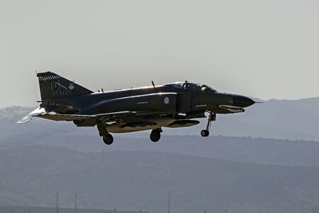motor launch: Airplane F-4 Phantom jet fighter