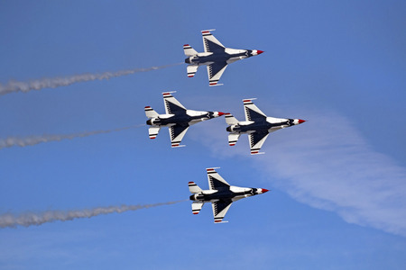Airplane US air Force Thunderbirds F-16 fighters Editorial