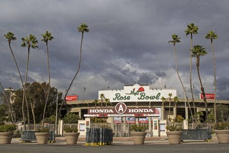 tournament of roses: Rose Bowl in Pasadena, California on New Years Day