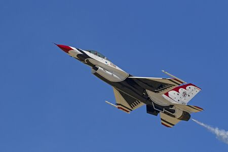 Airplane US Air Force Thunderbirds F-16 Falcon Editorial