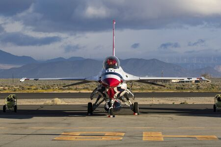 Airplane F-16 jet US Air Force Thunderbirds Editorial