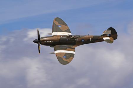 Airplane WWII vintage RAF Spitfire aircraft