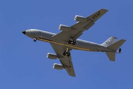 Airplane Air Force KC-135 aerial fuel tanker