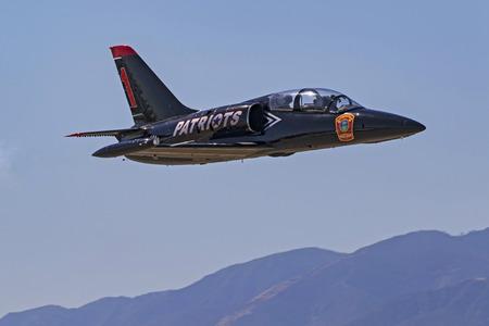motor launch: Airplane Patriots Jet Team L-39 Albatross