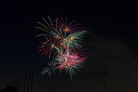 Fireworks light up California sky