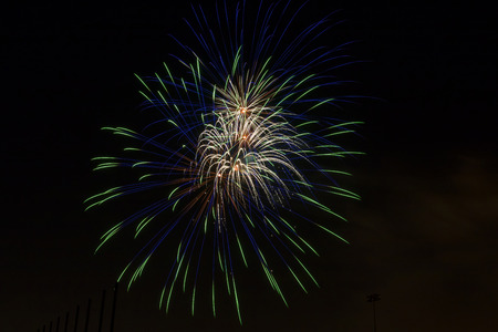 aerial bomb: Fireworks bang with vivid color at Fourth of July event