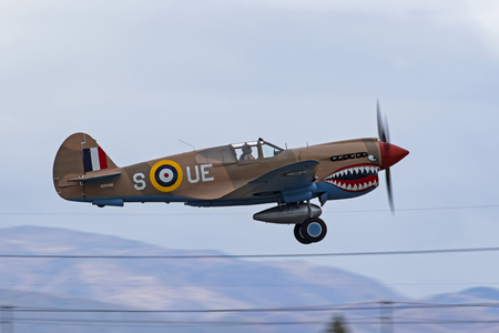 Airplane P-40 Warhawk WWII fighter aircraft