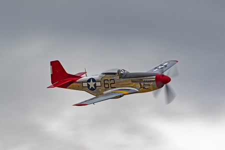 Airplane P 51 Mustang Red Tail Aircraft