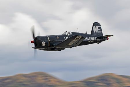 Airplane F4-U Corsair WWII fighter