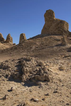 California desert landscape at Trona Pinnacles Stock Photo