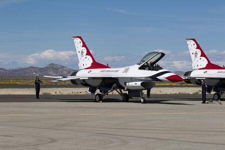 thunderbird: Thunderbird pilot and F-16 start-up at air show