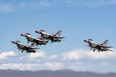 Thunderbirds jet fighters take-off