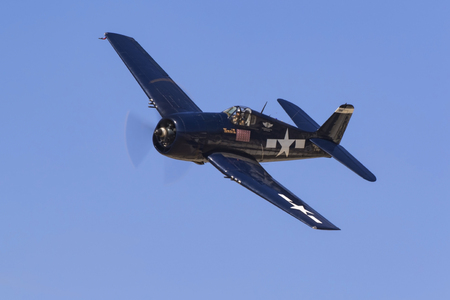 Airplane F6F Hellcat WWII fighter aircraft