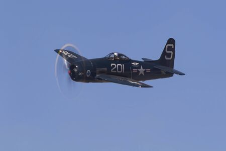 bearcat: Airplane F8F Bearcat WWII vintage fighter Editorial