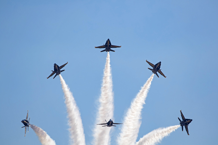 Airplanes Navy Blue Angels F-18 Hornet jets Editorial