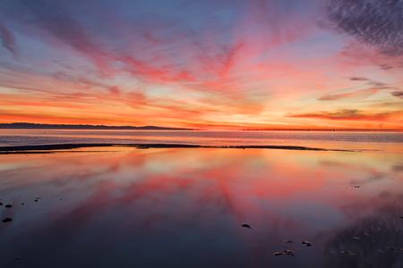 Sunrise morning at the Salton Sea in the California desert