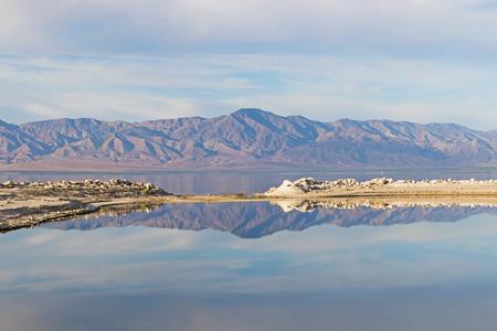 Desert marina at the Salton Sea