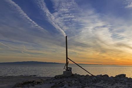 Sunrise at the Salton Sea beach