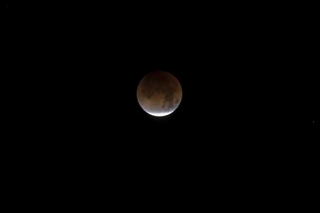 Eclipse Blood moon during 2018 lunar event