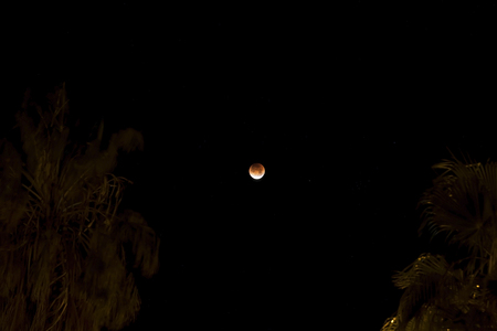 Moon during 2018 Blood moon, Blue moon and full moon