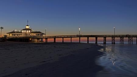 Beach sunrise at Newport Pier