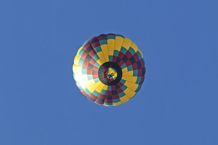 Balloon flying high above
