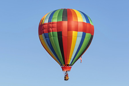 Balloon flying above California Stock Photo