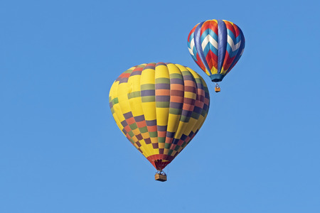 Balloons flying over California winery Stock Photo