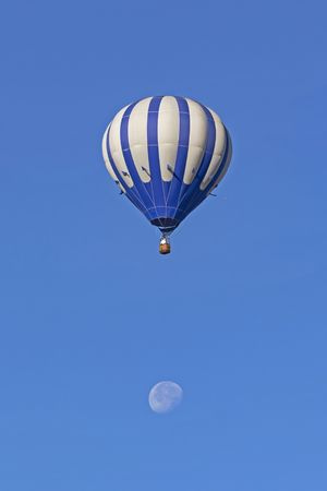 Balloon flight over the full moon