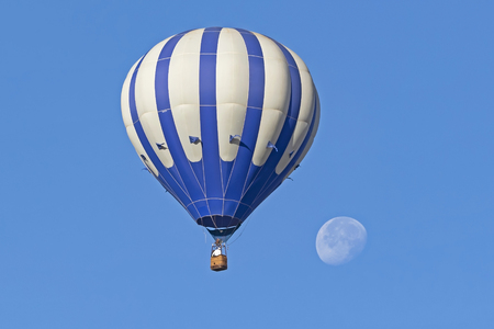 Balloon ride to the moon Stock Photo