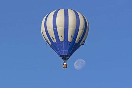 Balloon ride with morning moon