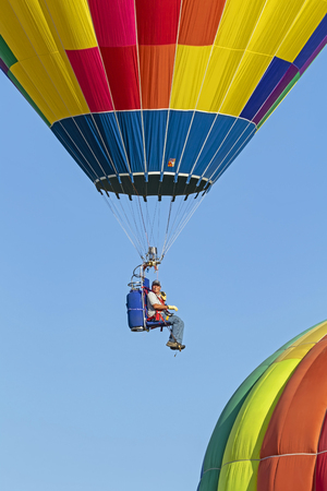 Balloon ride at California festival Stock Photo