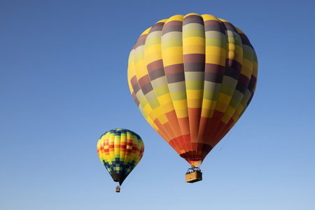 Balloons float above California winery