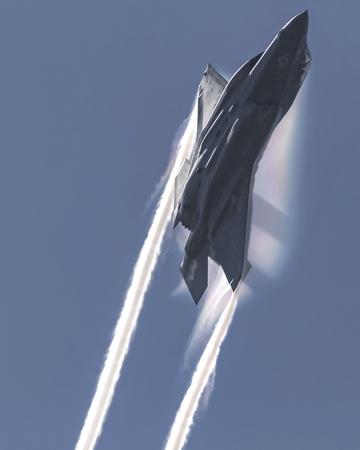 Avion de chasse à réaction Lightning F-35 Éditoriale
