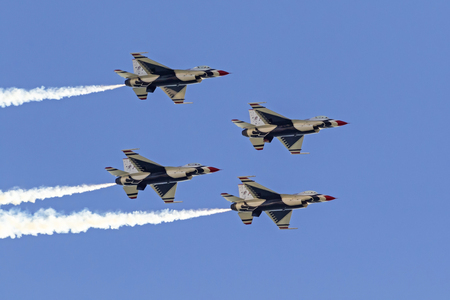 Thunderbirds jets flying in formation