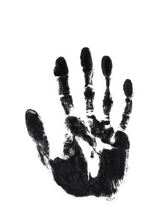 mano derecha: Negro tinta de impresi�n de la mano derecha