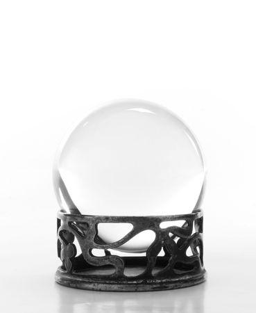 Plain crystal ball on stand Imagens - 1905190