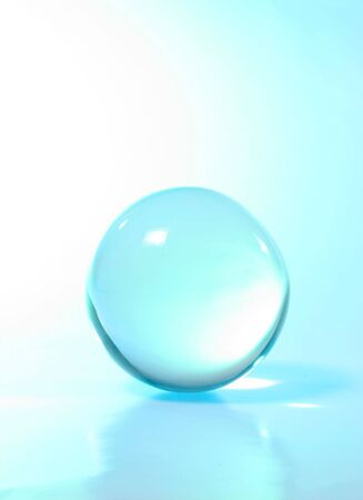 Crystal ball  turquoise light