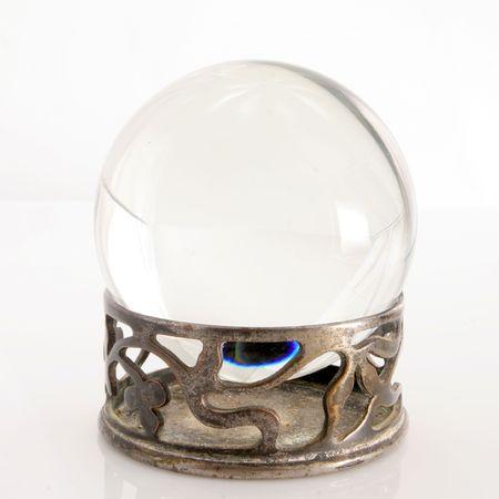 bola de cristal: Bola de cristal  Foto de archivo