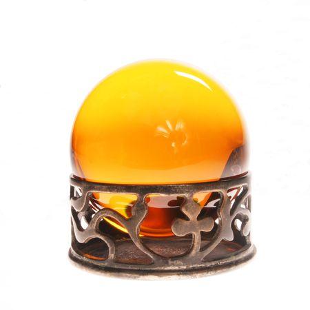 bola de cristal: amarillo bola de cristal en pie