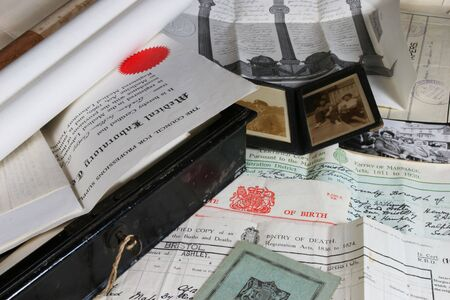 Papiere im Zusammenhang mit der Geschichte Lizenzfreie Bilder