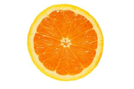 pith: Half orange isolated on white