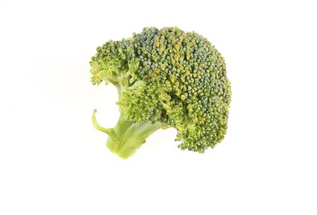 brocolli: Brocolli floret isolated on a white background Stock Photo