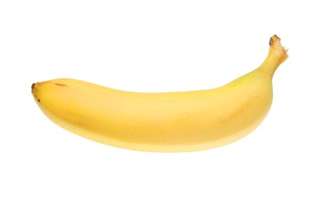 bannana: Single bannana isolated on a white background