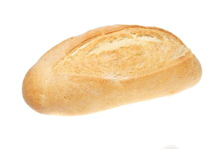 bloomer: Organic white stone baked loaf of bread