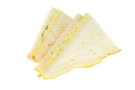 cress: Egg mayonaise and cress sandwich isolated on white Stock Photo