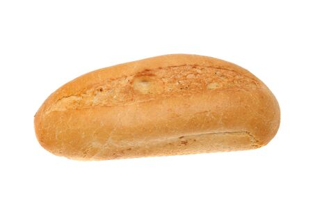 crusty: Crusty Vienna bread roll isolated against white
