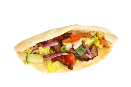 donner: Donner style kebab isolated against white Stock Photo