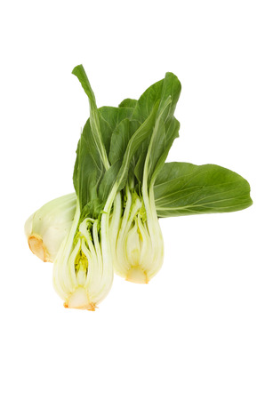 nappa: Whole and cut Pak choi, Chinese cabbage isolated against white