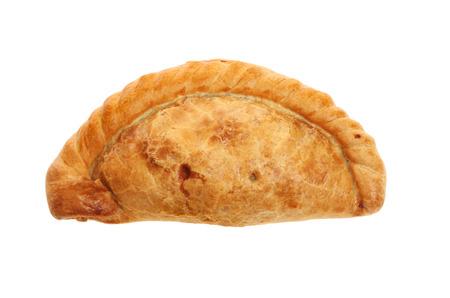 pasty: Cornish pasty isolated against white